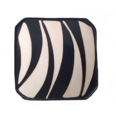 Small Square Zebra Stripe Design Plate